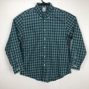Brooks Brothers Regent Button Shirt Green Large